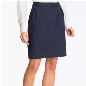 Kate Spade Barry Navy Pencil Skirt